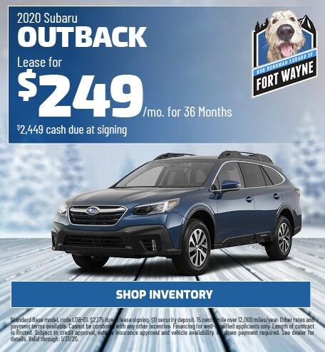 New 2020 Subaru Outback | Lease