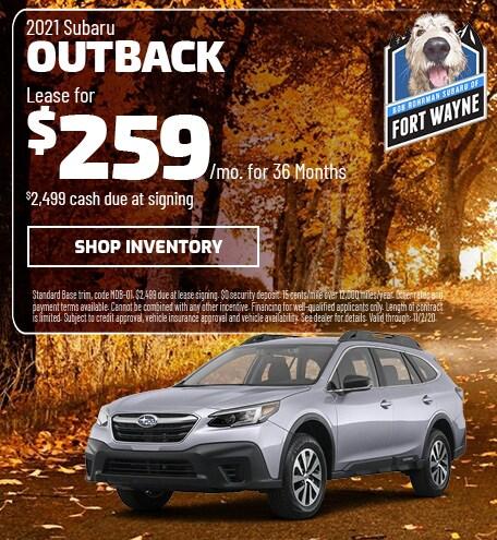 New 2021 Subaru Outback | Lease