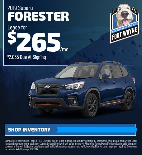 October 2019 Forester Lease