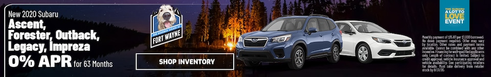 New 2020 Subaru Ascent, Forester, Outback, Legacy, Impreza | 0% APR