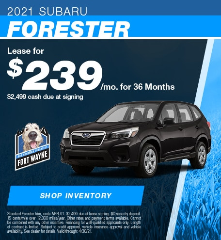 New 2021 Subaru Forester | Lease