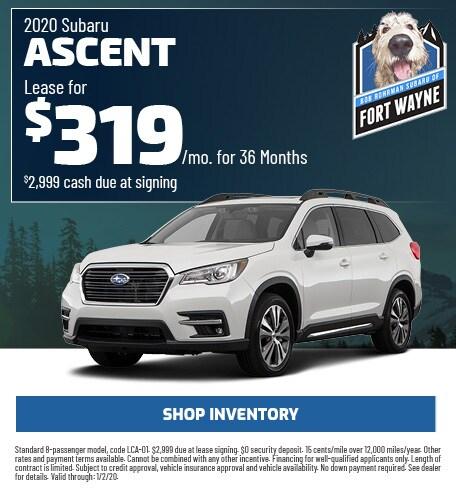 New 2020 Subaru Ascent   Lease