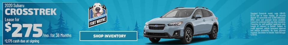 New 2020 Subaru Crosstrek   Lease