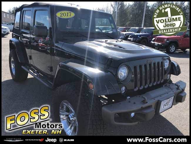 Certified 2017 Jeep Wrangler Unlimited Sahara SUV Exeter, NH