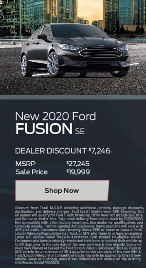 2020 Ford Fusion SE - $7246 Off MSRP