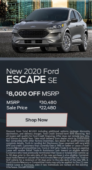 New 2020 Escape
