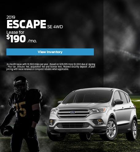 New 2019 Ford Escape 9/10/2019