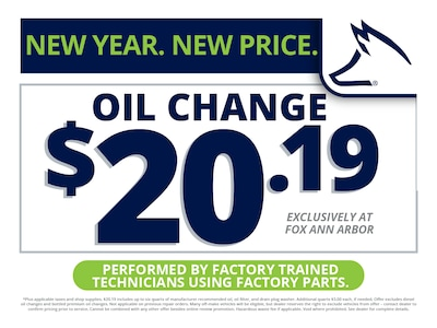 New Year. New Price. Oil Change $20.19