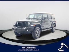 New 2020 Jeep Wrangler UNLIMITED BLACK AND TAN 4X4 Sport Utility in Charlevoix, MI