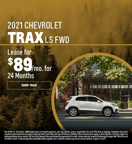 New 2021 Chevrolet Trax | Lease