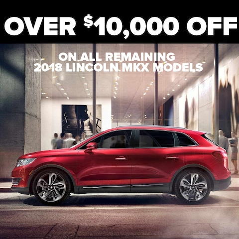 2018 Lincoln MKX up to $10,000 Off
