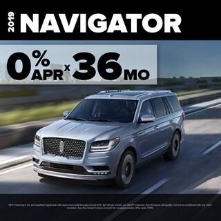 0.0% APR for 36 months on select Lincoln Navigator models