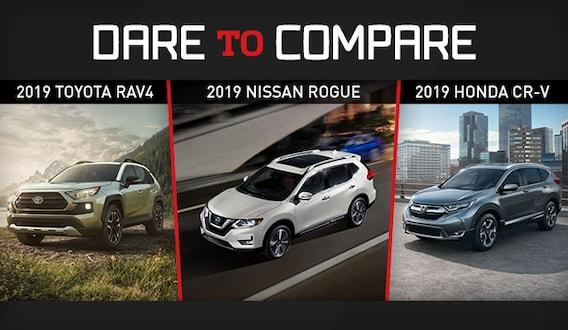 Rogue Vs Crv >> 2019 Toyota Rav4 Vs Nissan Rogue Vs Honda Cr V Fox Toyota