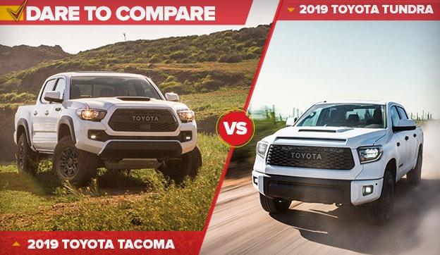 Tacoma Vs Tundra >> 2019 Toyota Tacoma Vs Tundra Fox Toyota