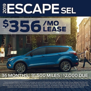 Fox Lease Special: $356/mo for 36 months, $2,000 Total Due at Signing