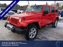 Used 2013 Jeep Wrangler Unlimited Sahara SUV 1C4HJWEG6DL562899 for Sale in Marquette, MI