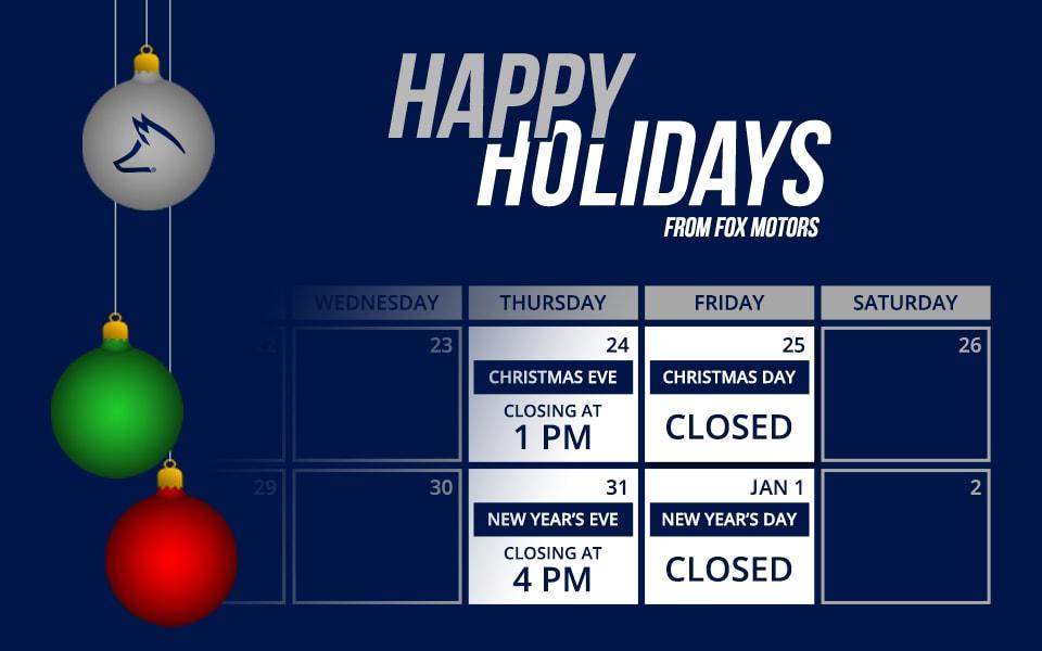 Holiday Hours Blog Post List Fox Marquette Subaru