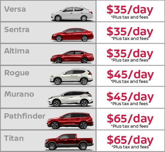 Nissan Rental Vehicles in Grand Rapids