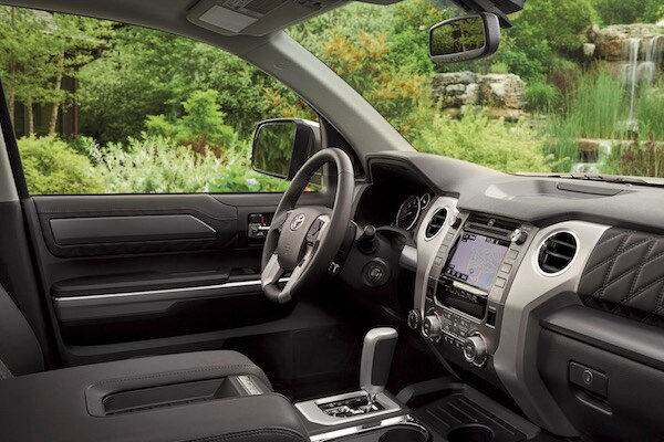 The dashboard of the 2019 Toyota Tundra