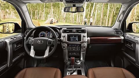 The dashboard of the 2019 Toyota 4Runner
