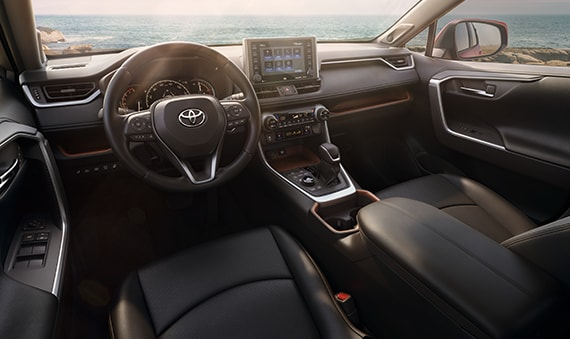 The dashboard on the 2019 Toyota RAV4