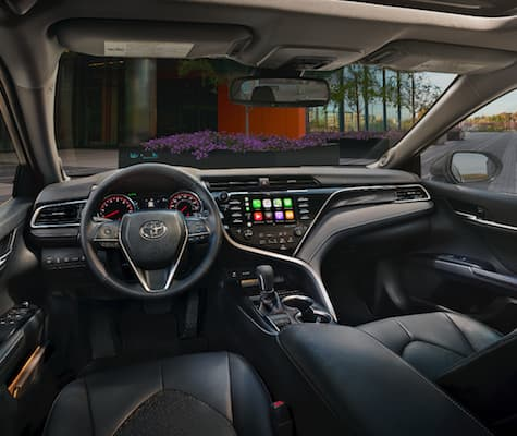 The dashboard on the 2019 Toyota Camry