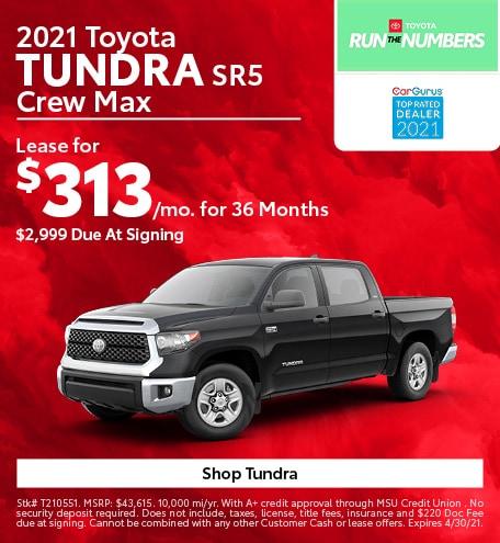 New 2021 Toyota Tundra | Lease