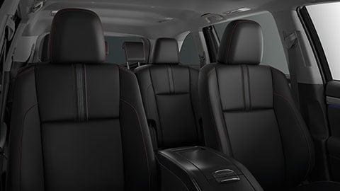 A black interior on the 2019 Toyota Highlander