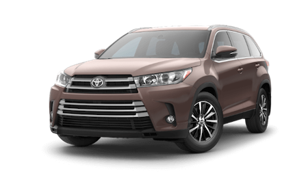 A brown 2019 Toyota Highlander