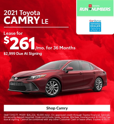 New 2021 Toyota Camry | Lease