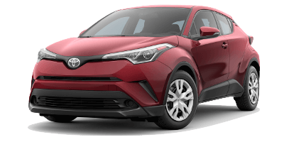 red 2019 Toyota C-HR LE