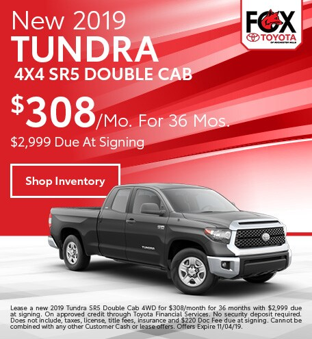 October 2019 Tundra Lease