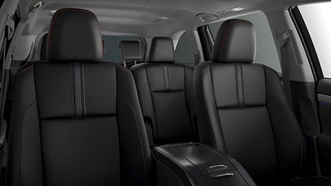 The interior seating of the 2019 Toyota Highlander