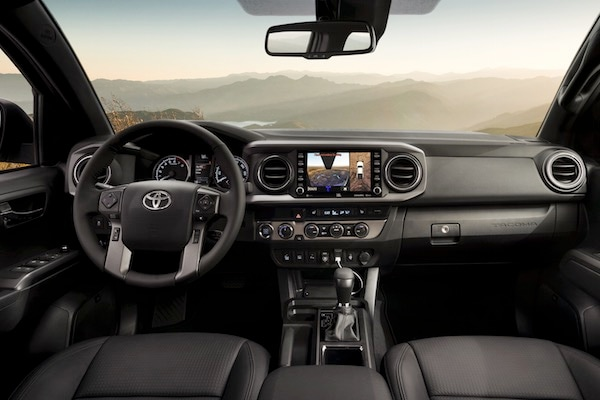 The dashboard of the 2019 Toyota Tacoma