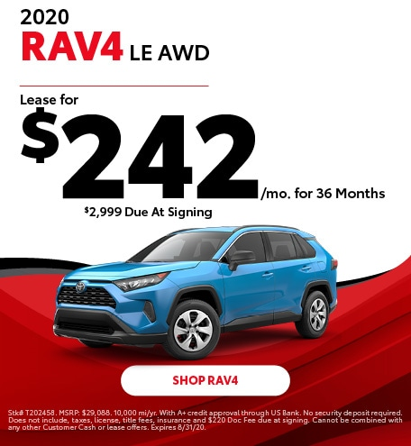 New 2020 Toyota RAV4   Lease