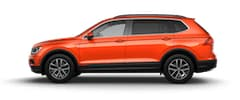 An orange 2019 VW Tiguan