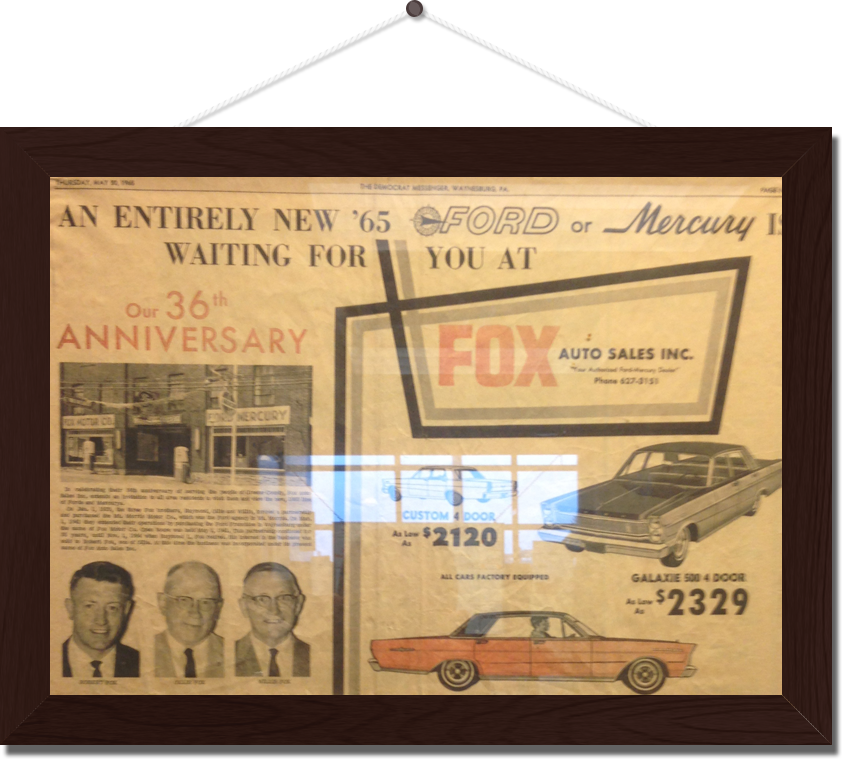 Fox ford of waynesburg new ford dealership in waynesburg for Ford motor company retiree death benefits