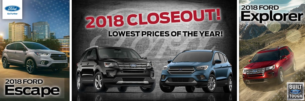 2018 Escape & Explorer Closeout Special at Framingham Ford