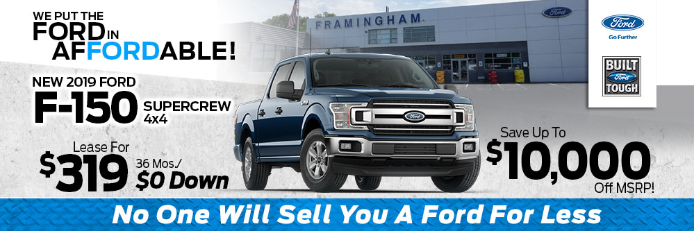 2019 Ford F-150 SuperCrew 4x4 XLT Lease Special at Framingham Ford