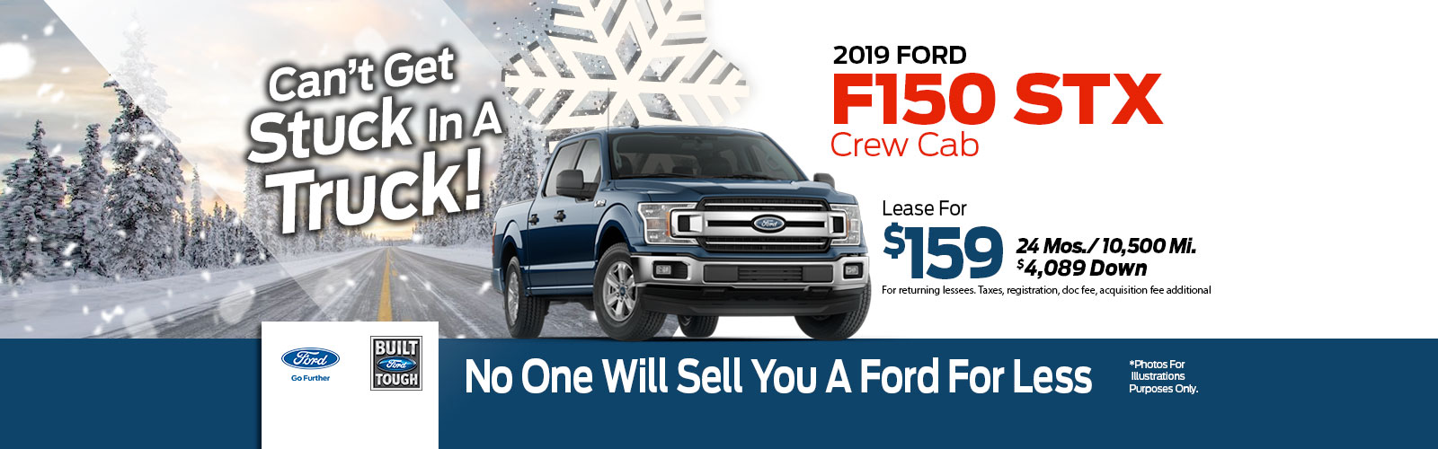 Ford F-150 SuperCrew 4x4 Lease Special at Framingham Ford