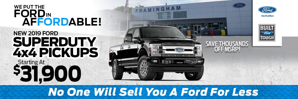 Ford F-150 Superduty Lease Special at Framingham Ford