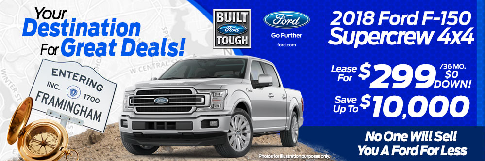 2018 Ford F-150 SuperCrew 4x4 Lease Special at Framingham Ford