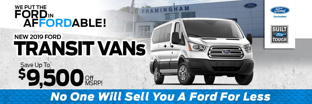 2019 Ford Transit Van Special at Framingham Ford