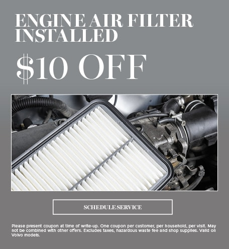 Engine Air Filter Installed