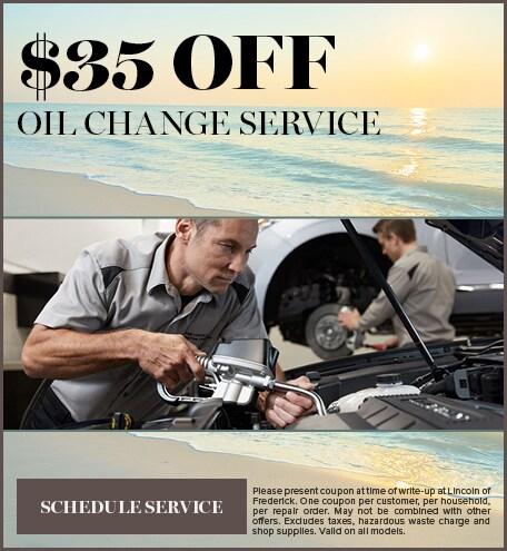 $35 OFF OIL CHANGE SERVICE