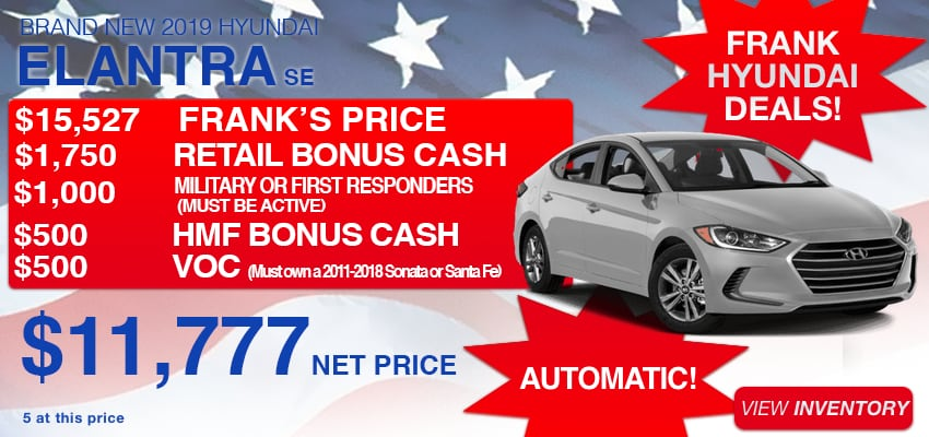 Shop New Hyundai Specials Frank Hyundai San Diego County