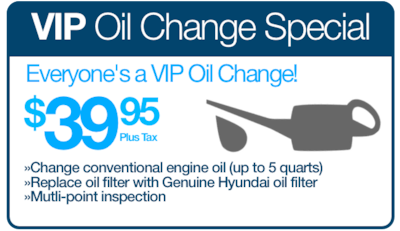 Everyon's a VIP Oil Change Special