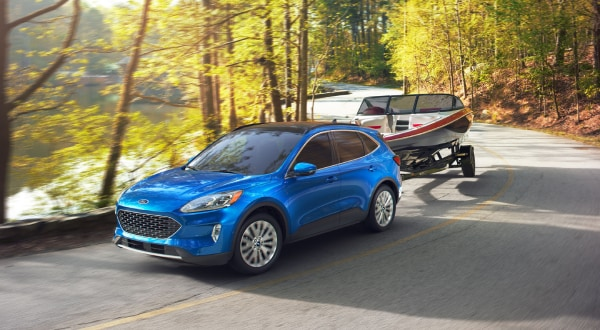 Ford Escape towing a boat