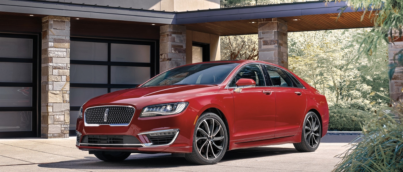 Red 2020 Lincoln MKZ near house