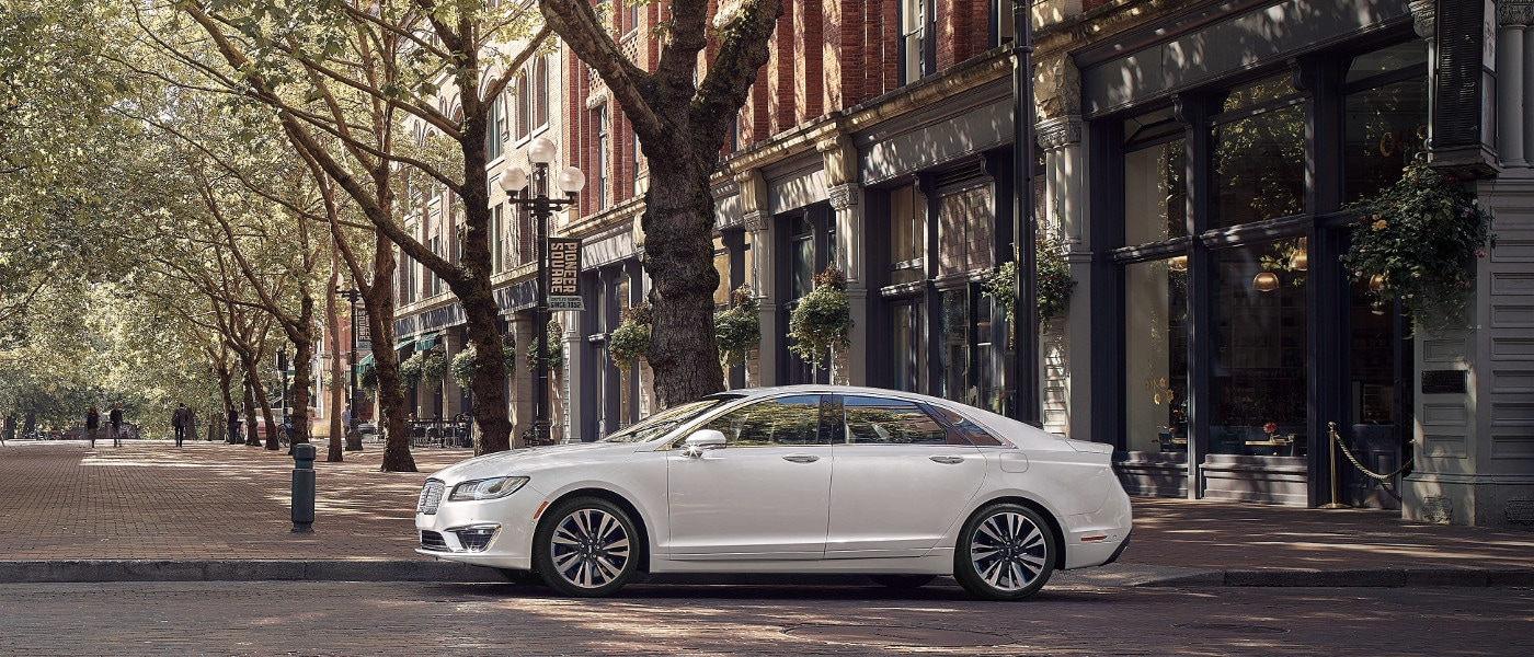 White 2020 Lincoln MKZ sideview